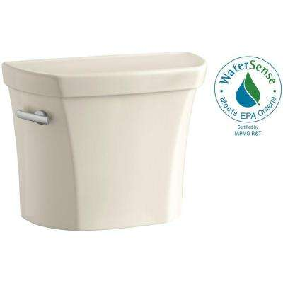 Wellworth 1.28 GPF Single Flush Toilet Tank Only with Insuliner Tank Liner and Locks in Almond