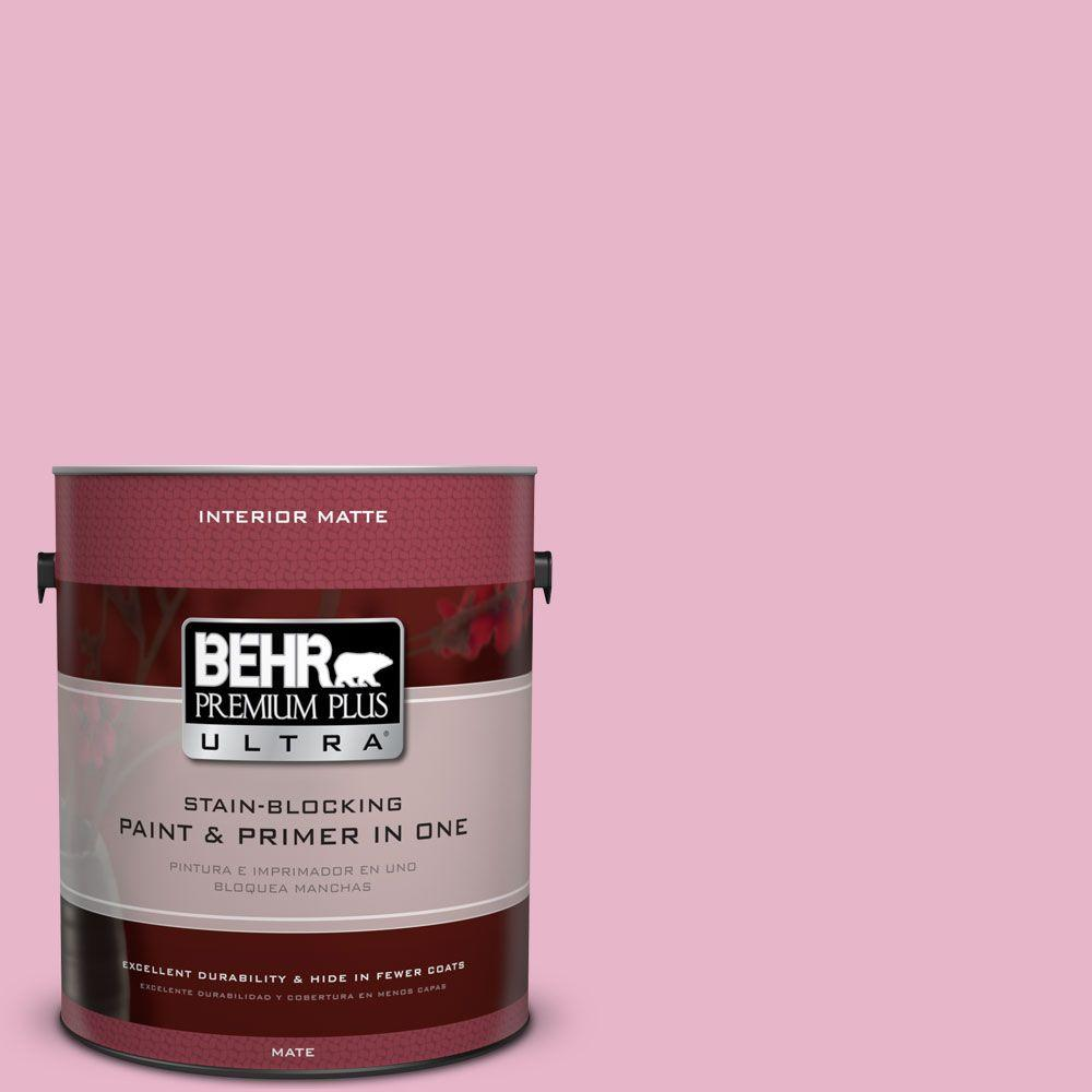 1 gal. #HDC-SP16-10 Japanese Rose Garden Flat Interior Paint