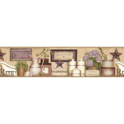 Martha Country Bath Wallpaper Border