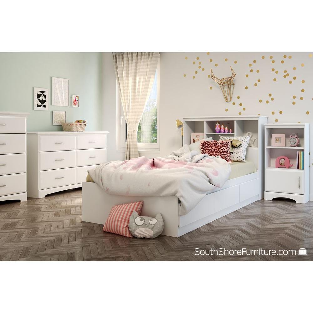 Callesto 6-Drawer Pure White Dresser
