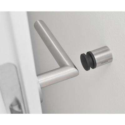 Entra 1-1/2 in. Stainless Steel Brushed Wall Mounted Door Stop for Doors
