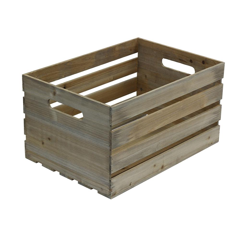 Crates pallet 18 in x 12 5 in x 9 5 in large crate in for Old wooden crates