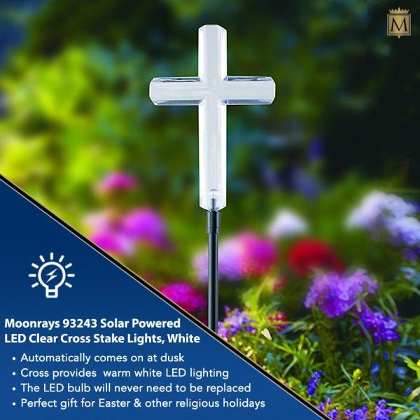 Roofs Solar Lighted Cross for Grave or Garden