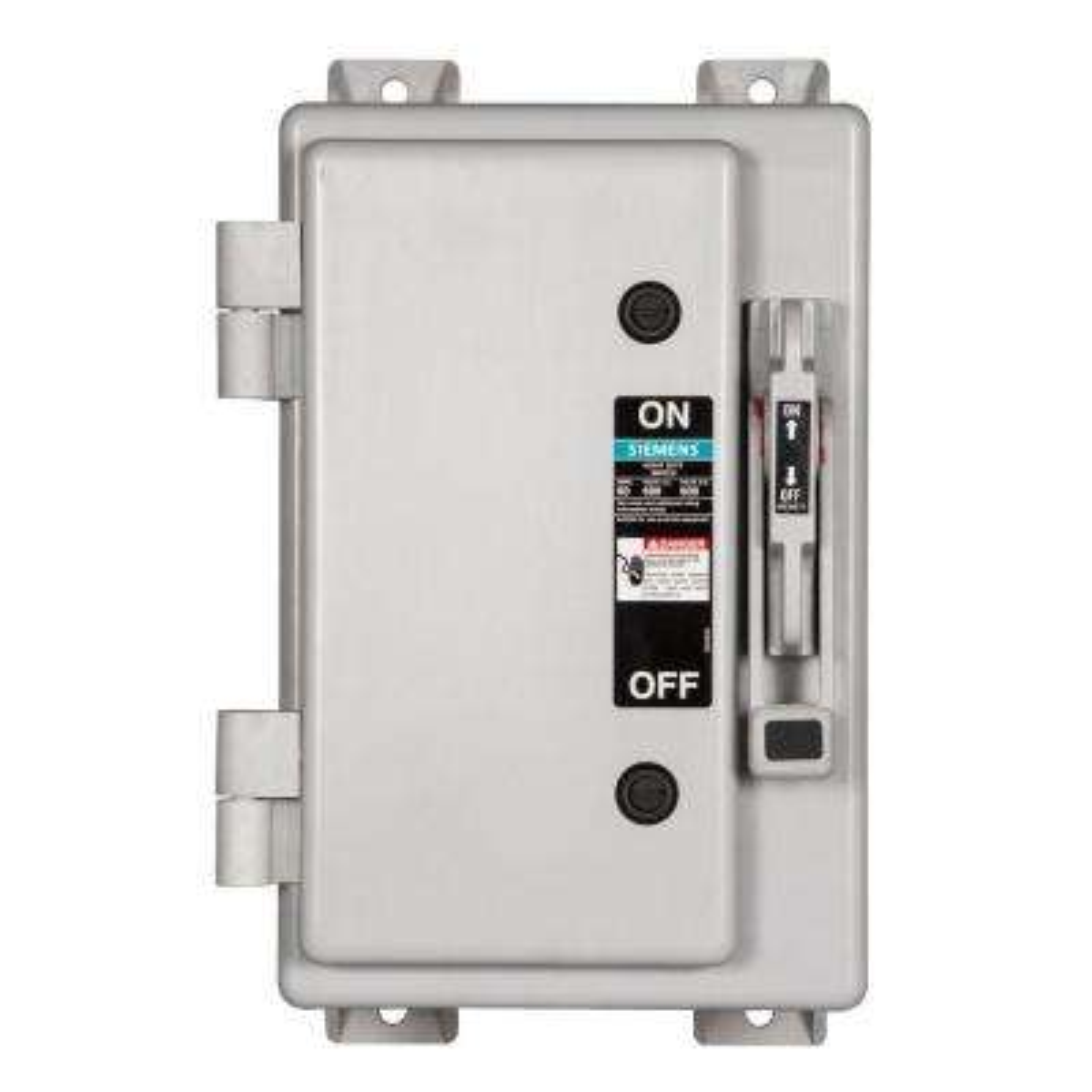 Heavy Duty 60 Amp 600-Volt 3-Pole Type 4X Non-Metallic Non-Fusible Safety Switch