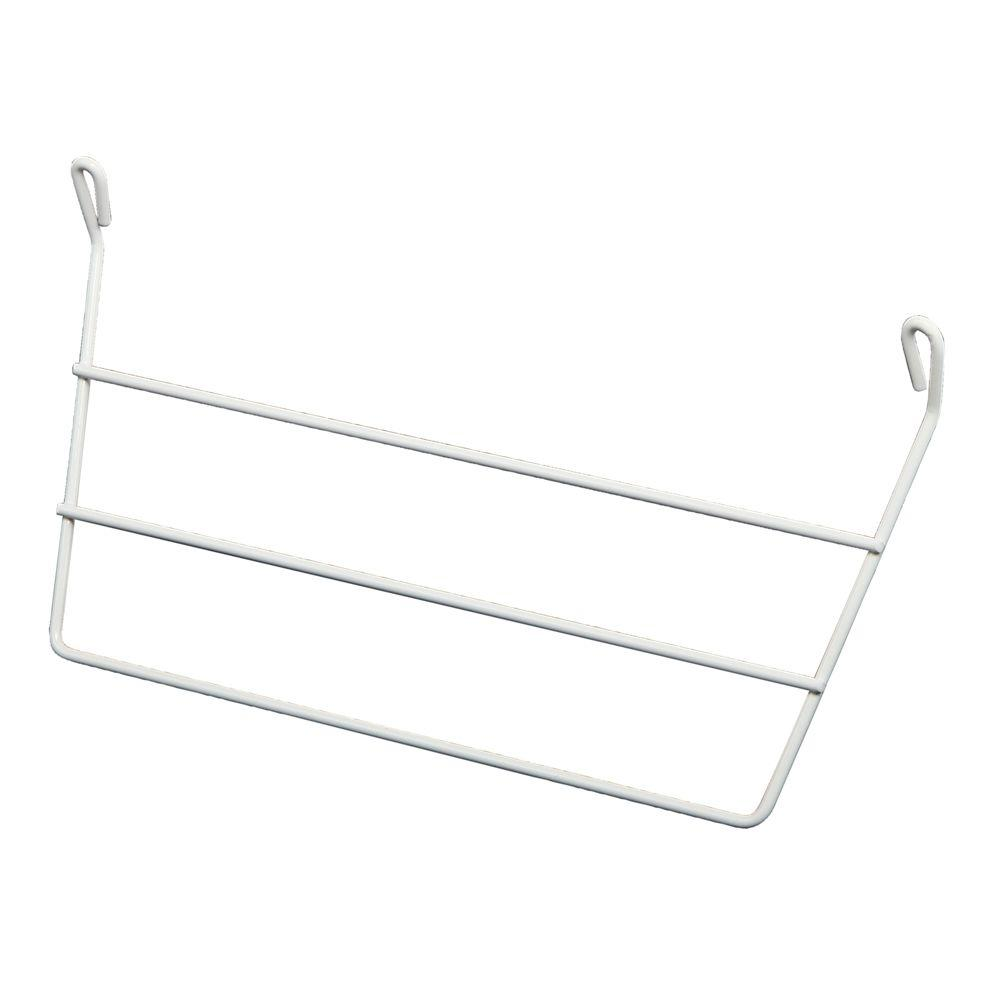 Real Solutions for Real Life 12-1/2 in. White Wire Door Mounted Towel Bar