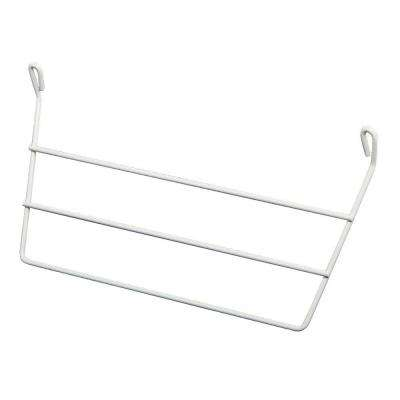 12-1/2 in. White Wire Door Mounted Towel Bar