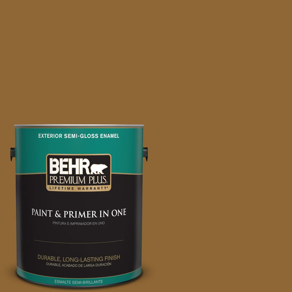 1-gal. #300D-7 Spanish Leather Semi-Gloss Enamel Exterior Paint
