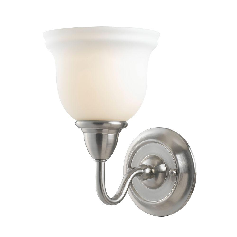 World Imports Montpellier Collection 1-Light Satin Nickel Wall Sconce-DISCONTINUED