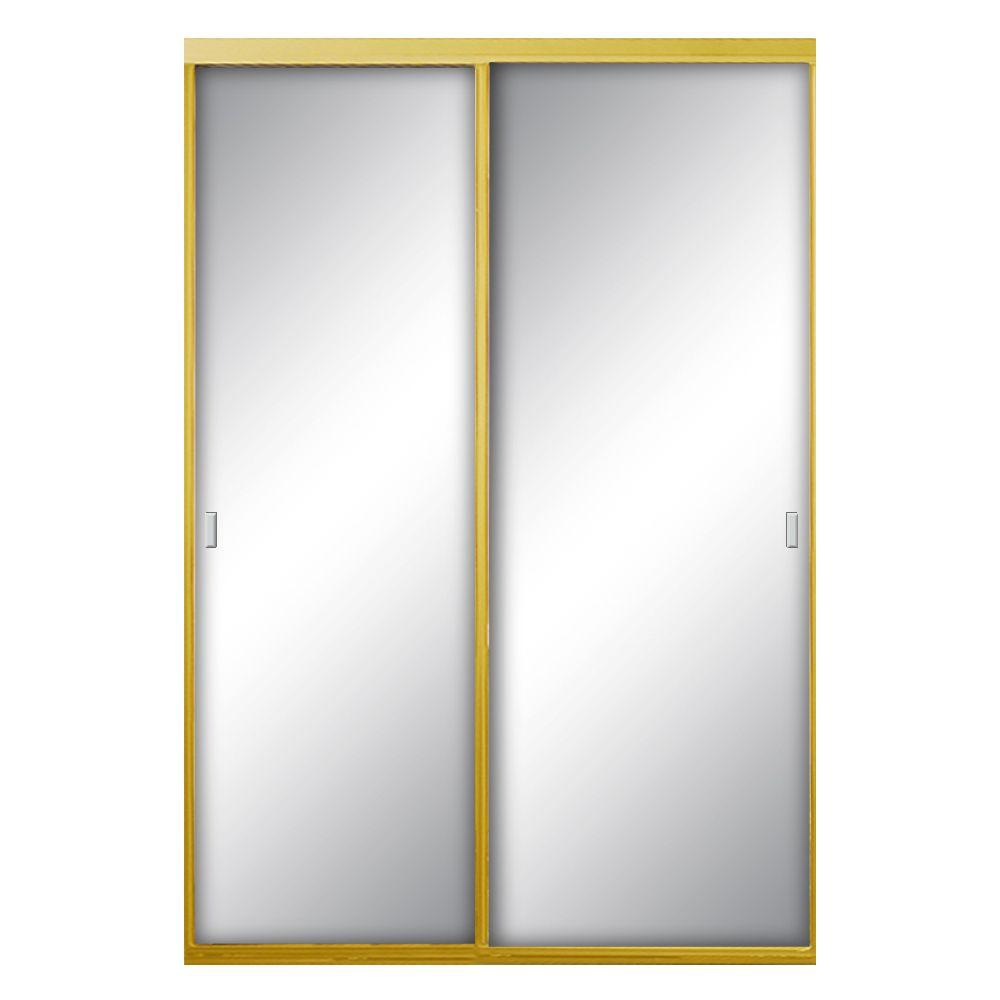 48 in. x 81 in. Asprey Bright Gold Mirror Aluminum Framed