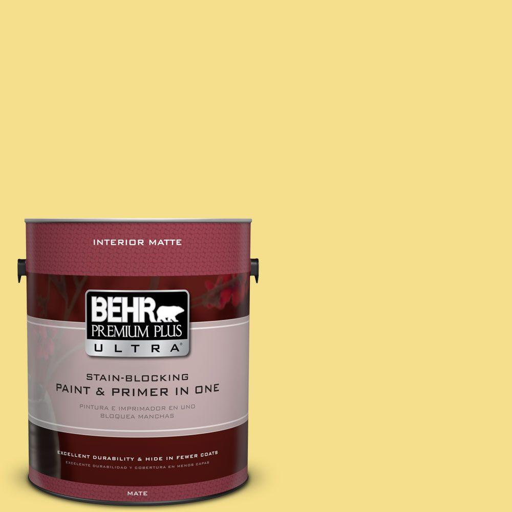1 gal. #HDC-SP16-03 Lemon Curd Flat Interior Paint