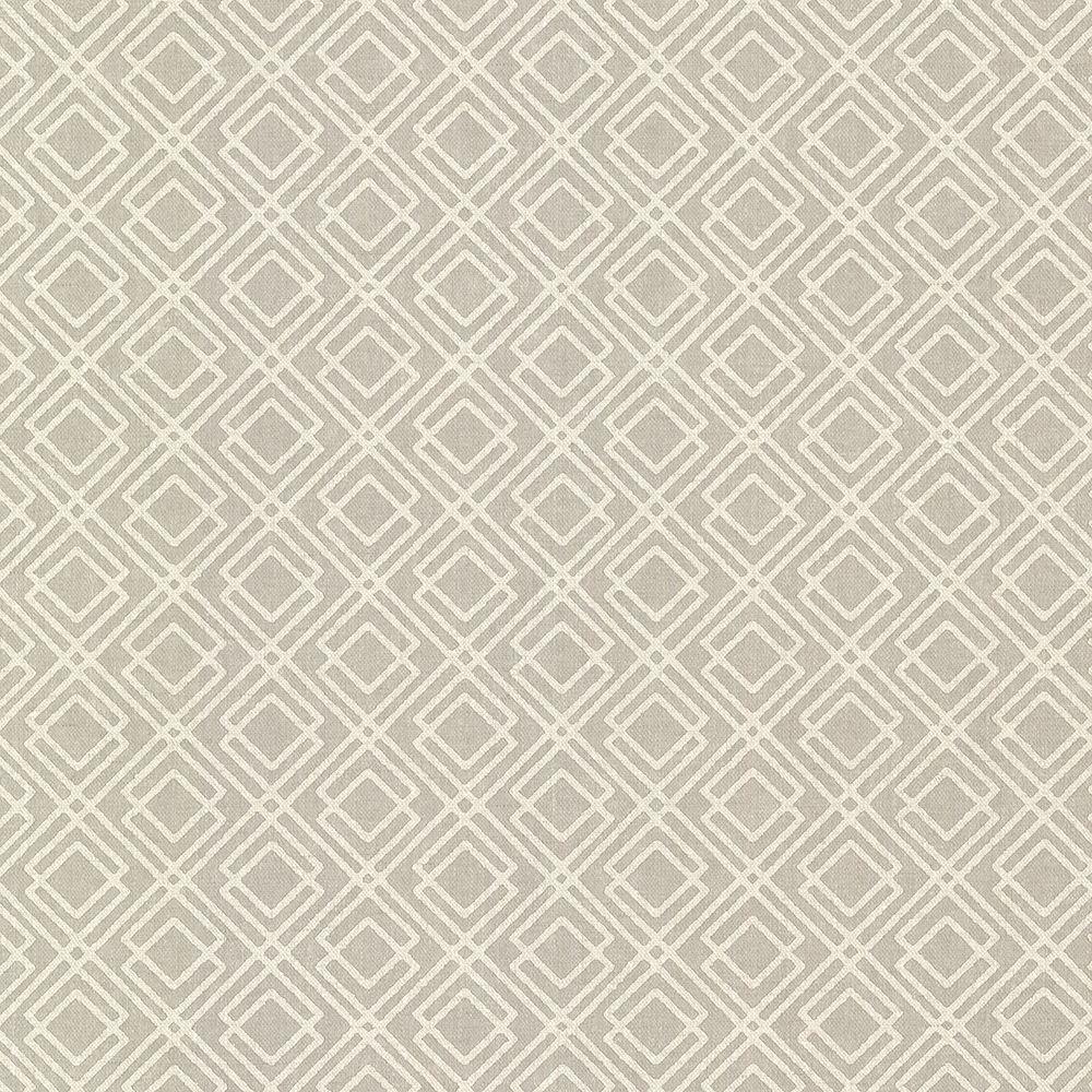 Brewster Milly Grey Lattice Wallpaper