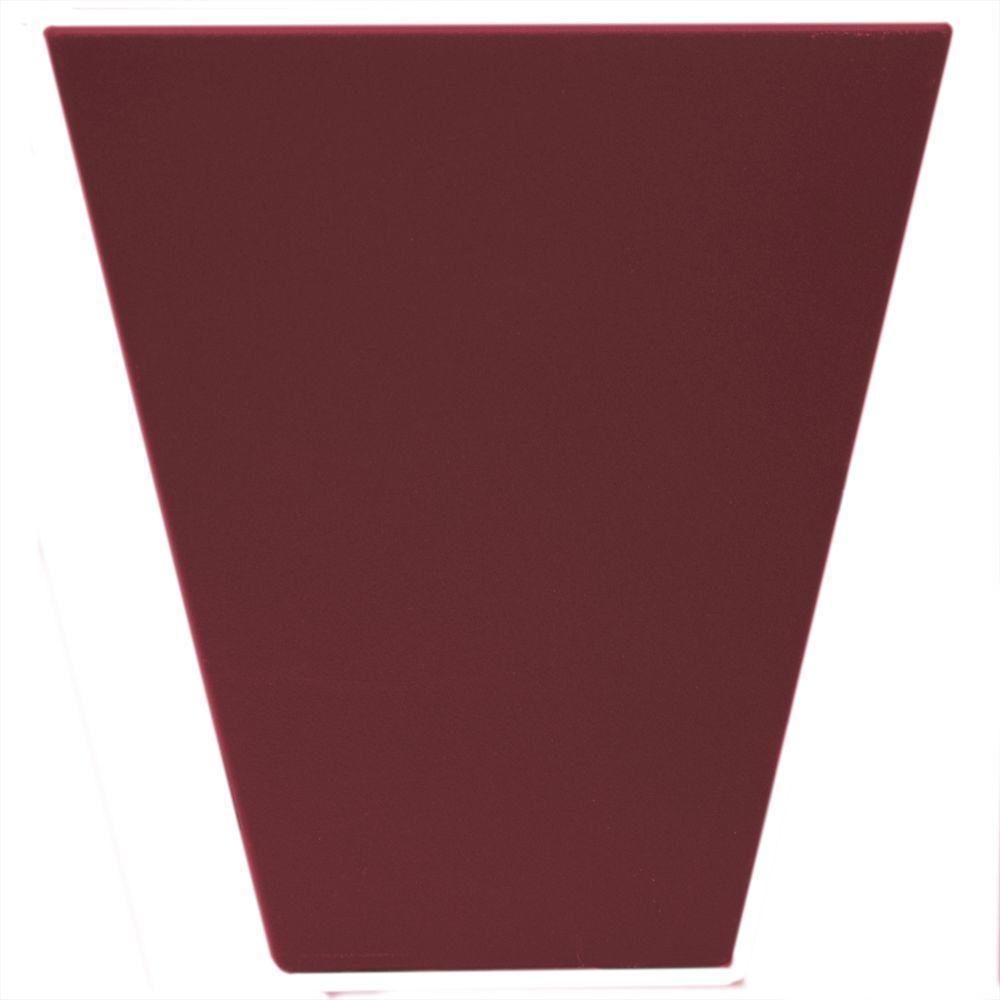 9 in. Flat Panel Window Header Keystone in 078 Wineberry
