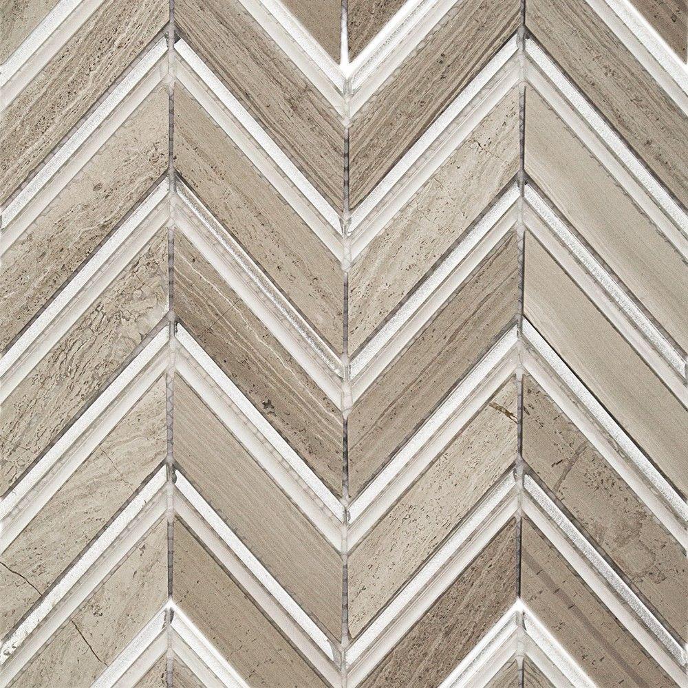 Royal Herringbone Sand 10-1/2 in. x 12 in. x 10 mm