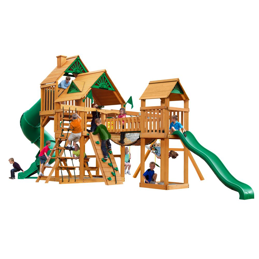 Treasure Trove with Amber Posts Cedar Playset