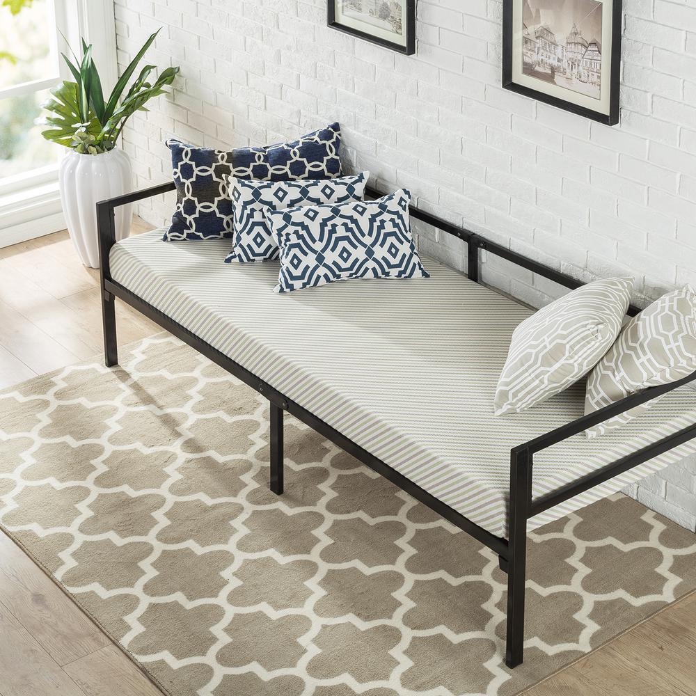 Brandi Quick Lock 30 Inch Wide Day Bed Frame and Foam Mattress Set