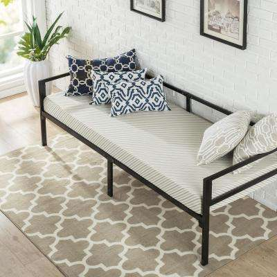 Brandi Quick Lock 30 Inch Wide Day Bed Frame and Foam Mattress Set