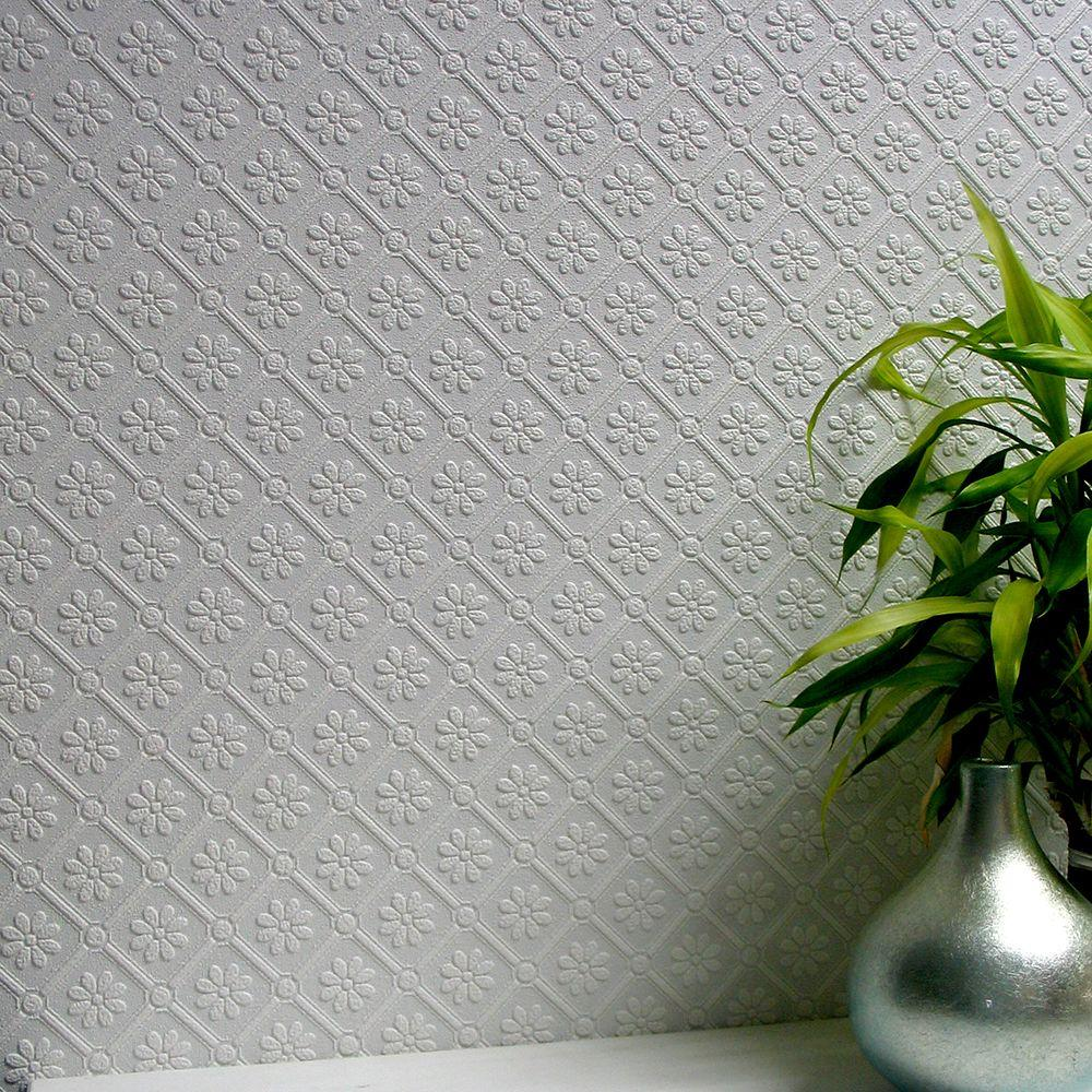 Amber Paintable Textured Vinyl Wallpaper Sample