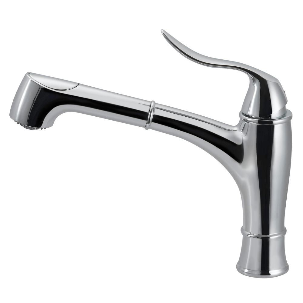 HOUZER Surge Single-Handle Pull Out Sprayer Kitchen Faucet with ...