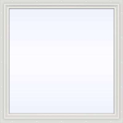 47.5 in. x 47.5 in. V-2500 Series White Vinyl Picture Window w/ Low-E 366 Glass