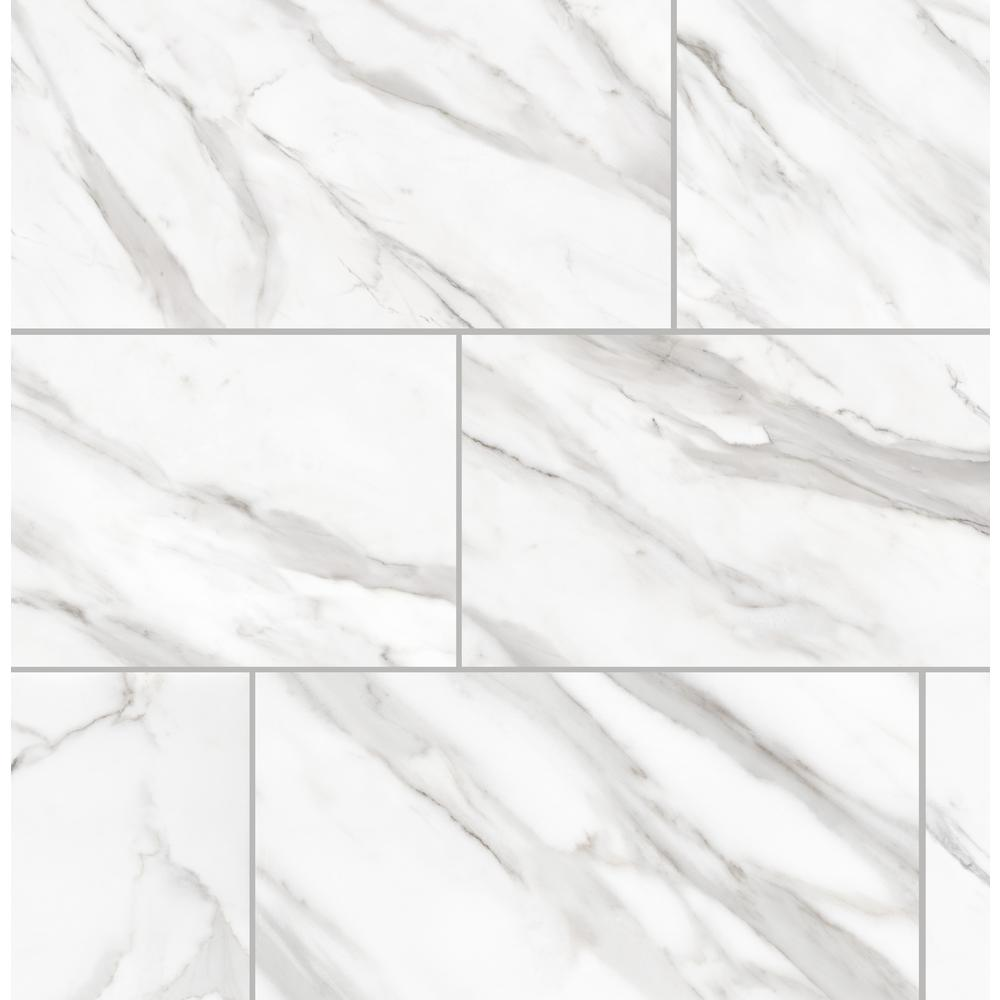 Florida Tile Home Collection Avante Bianco Marble 12 in. x 24 in. Porcelain Floor and Wall Tile (13.3 sq. ft./case)