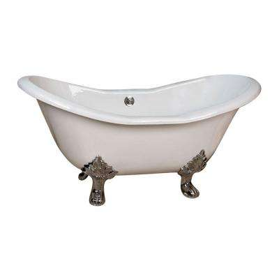 clawfoot tub with jets. 5 9 ft  Clawfoot Bathtubs Freestanding The Home Depot