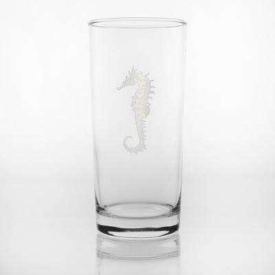 Seahorse 15 oz. Clear Cooler Highball (Set of 4)
