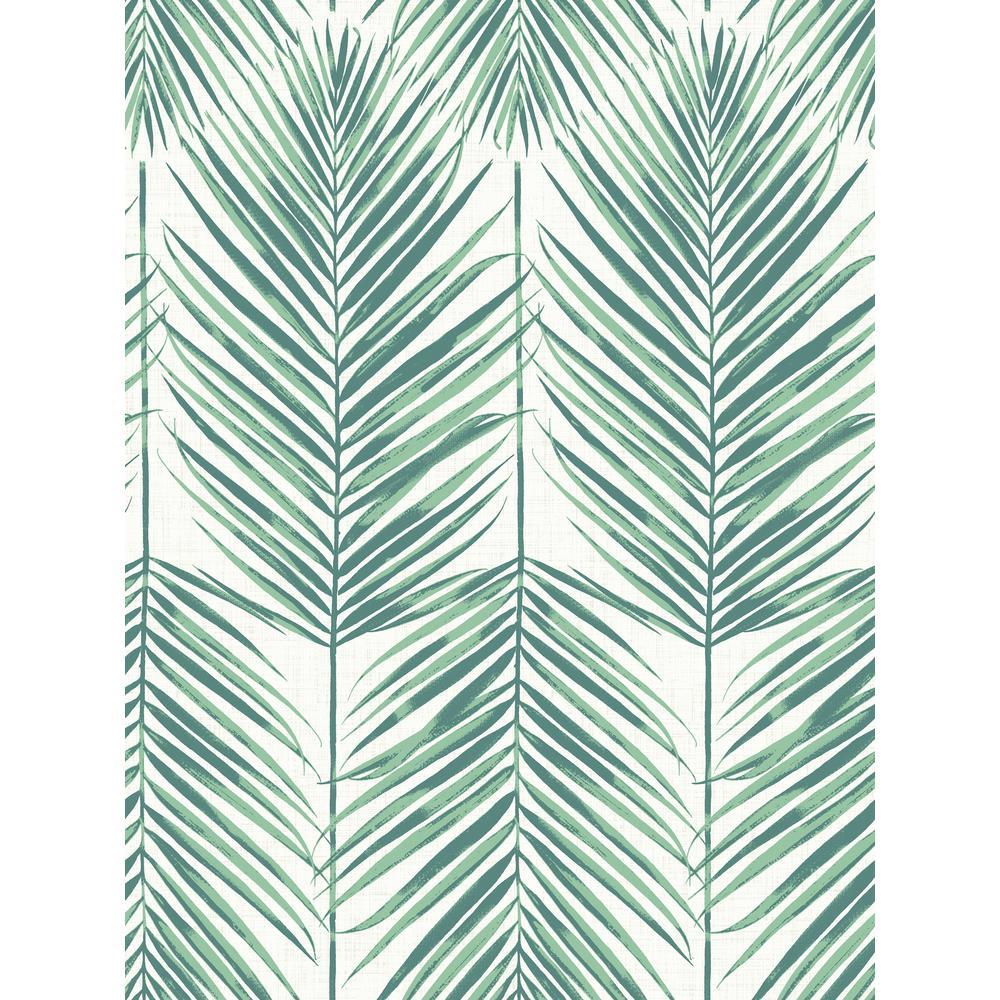 Paradise Tropic Green Palm Leaf Wallpaper