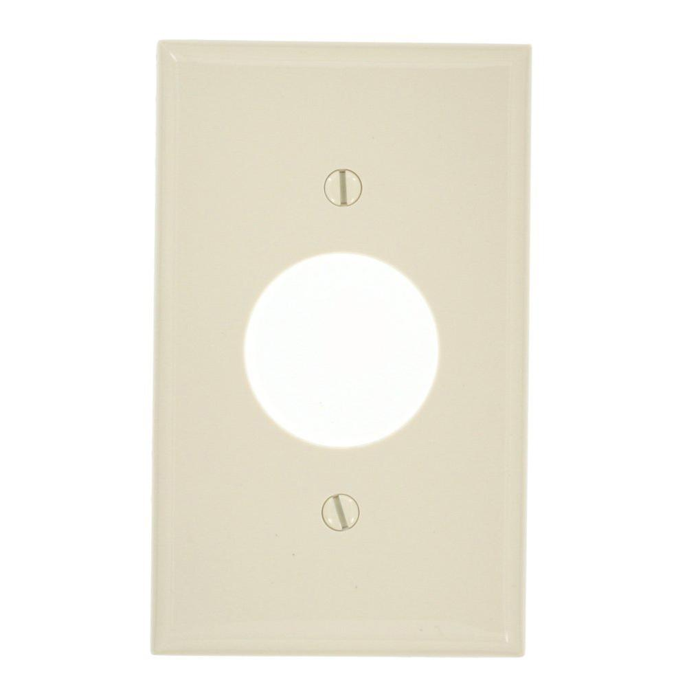 Almond 1-Gang Single Outlet Wall Plate (1-Pack)