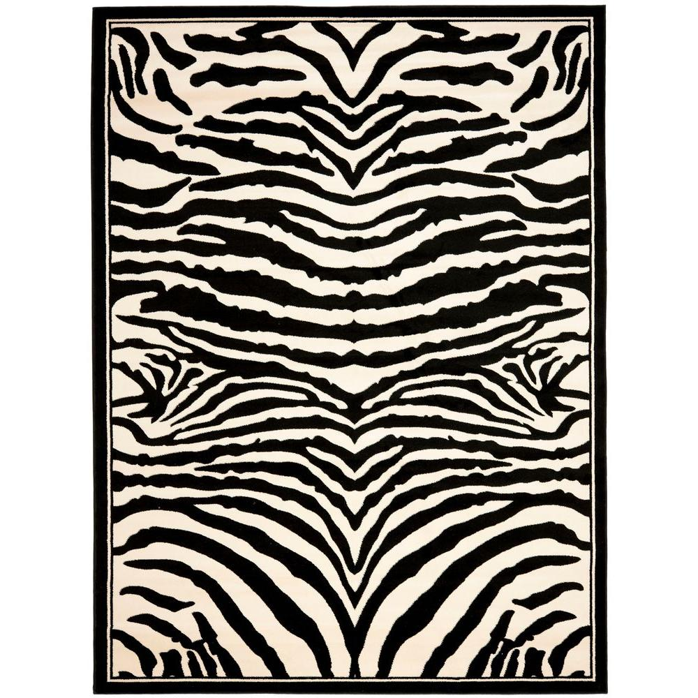 Safavieh Lyndhurst White/Black 6 ft. x 9 ft. Area Rug