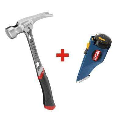 25 oz. Steel Smooth Face Hammer with Free Knack Knife