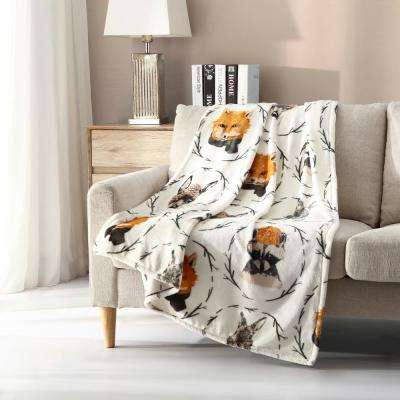 Morgan Home Plush Woodland Critters Throw Blanket