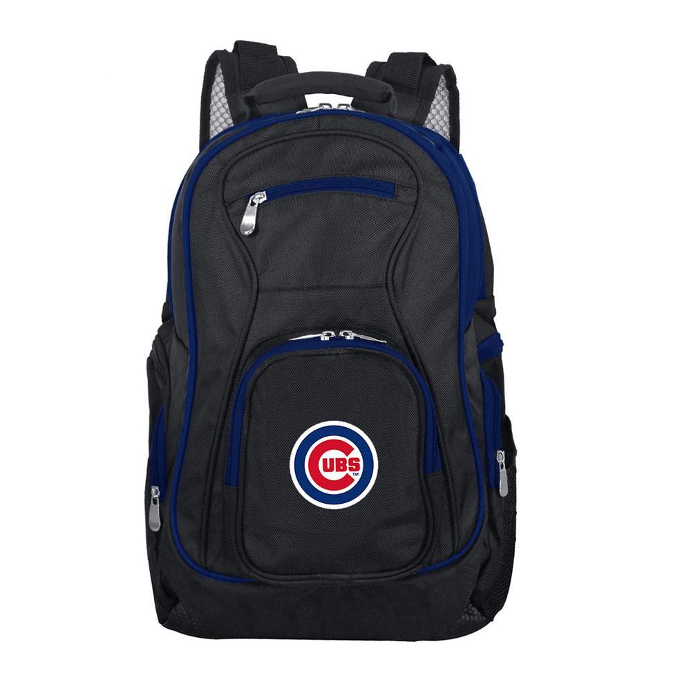 Denco MLB Chicago Cubs 19 in. Black Trim Color Laptop Backpack