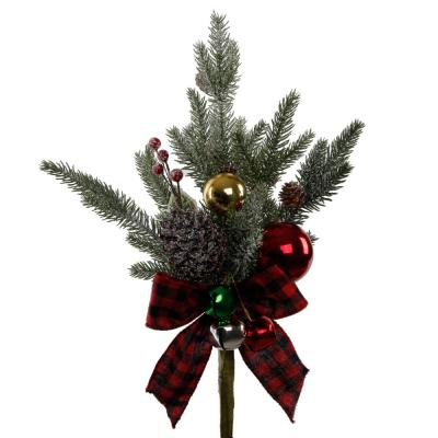 17 in. H Pine Branch Bouquet with Pinecones and Berries