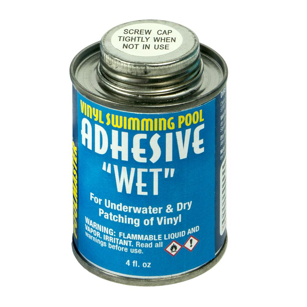 Poolmaster 4-Ounce Can of Vinyl Swimming Pool Adhesive Wet