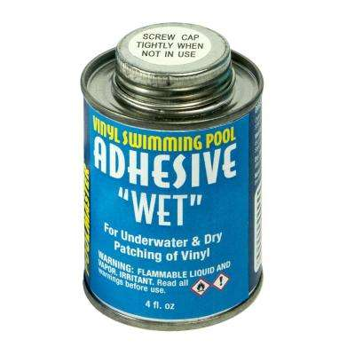 4 oz. Can of Vinyl Swimming Pool Adhesive Wet