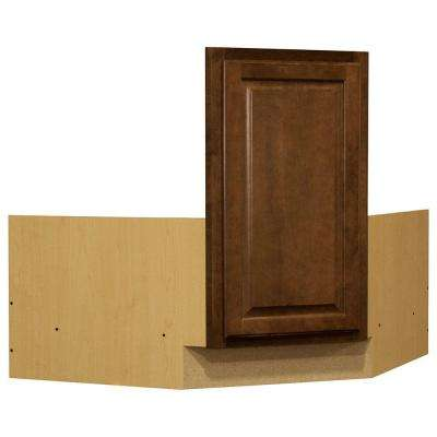Hampton Ready to Assemble 36 x 34.5 x 24 in. Corner Sink Base Kitchen Cabinet in Cognac