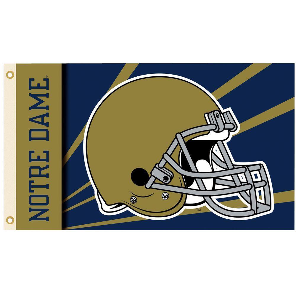 BSI Products NCAA 3 ft. x 5 ft. Helmet Notre Dame Flag
