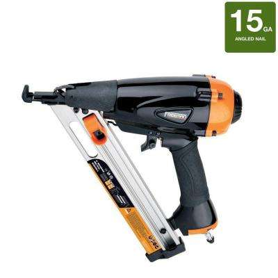Pneumatic 15-Gauge 34-Degree Strip Finish Nailer