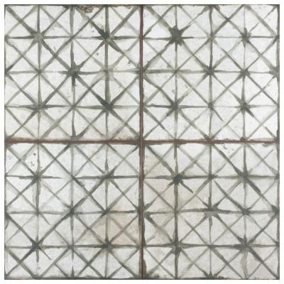 Kings Temple Sage Encaustic 17-5/8 in. x 17-5/8 in. Ceramic Floor and Wall Tile (11.02 sq. ft. / case)