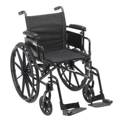 Cruiser X4 Lightweight Dual Axle Wheelchair with Adjustable Detachable Arms, Desk Arms and Swing Away Footrests