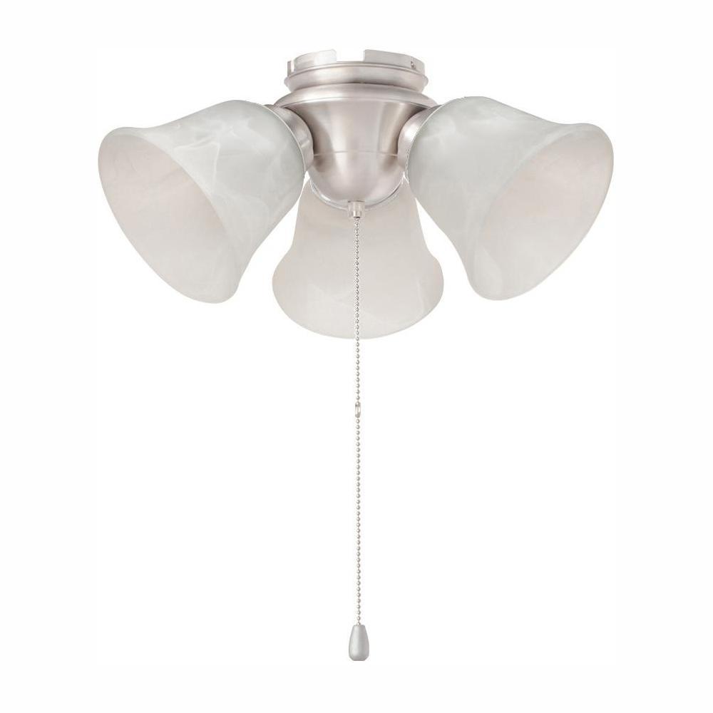 Hampton Bay 3 Light Brushed Nickel Alabaster Glass Led Ceiling Fan Light Kit Hb3454 35 The