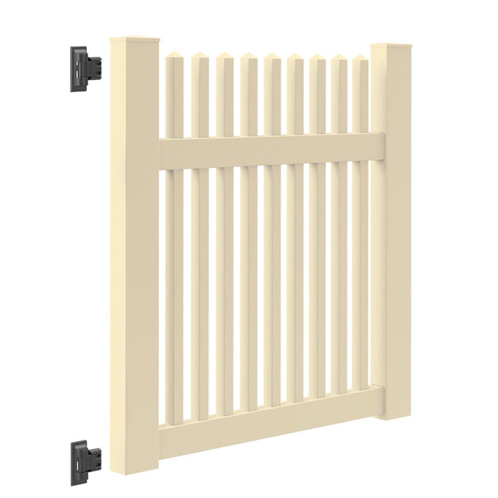 Ottawa Straight 4 ft. W x 4 ft. H Sand Vinyl Un-Assembled Fence Gate