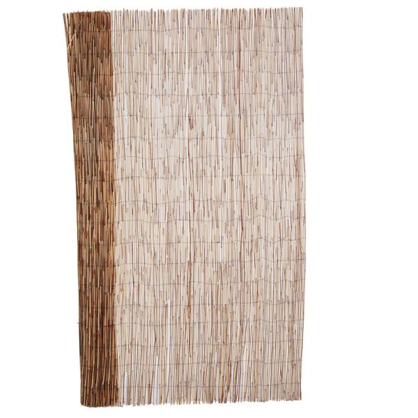 6 ft. H x 16 ft. L Bamboo Coffee Peeled Reed Fence Panel (2-Pack)