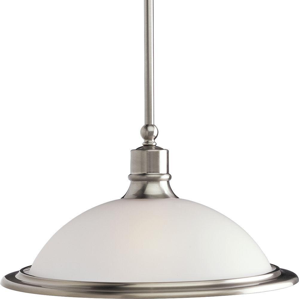 Progress Lighting Madison Collection 1-Light Brushed Nickel Pendant