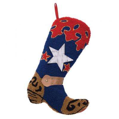 20.69  in. H Hooked Stocking Blue Boot