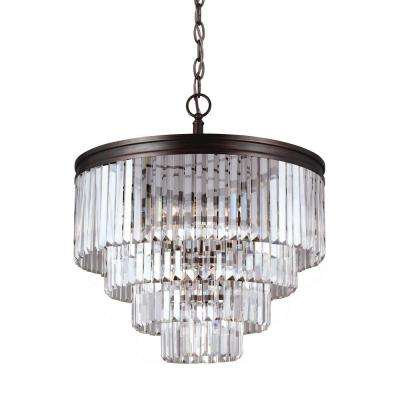 Carondelet 6-Light Burnt Sienna Multi Tier Chandelier