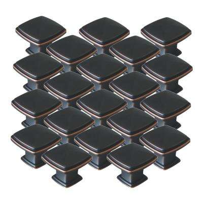 Park Avenue 1-1/4 in. Oil Rubbed Bronze Cabinet Knob Value Pack (20-Pack)