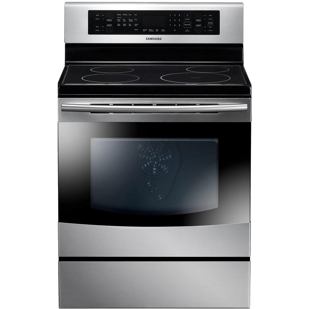 Samsung 5.9 cu. ft. Induction Range Double Oven with Self-Cleaning True Convection Oven in Stainless Steel
