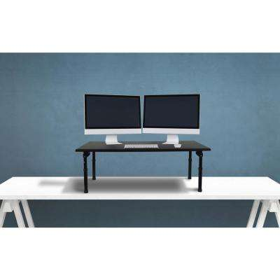 Black Standing Desktop Desk with Foldable Legs