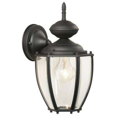 Park Avenue 1-Light Black Outdoor Wall Lantern